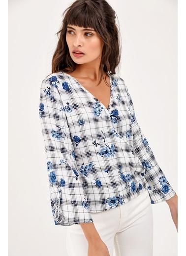New Laviva Bluz Beyaz
